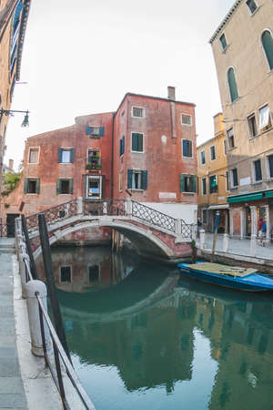 Water in one of the canals of Venice. Italy