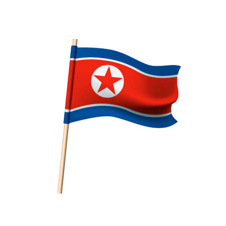 Democratic People's Republic of Korea flag. Vector illustration