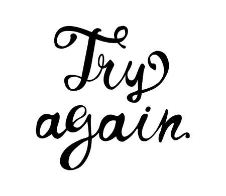 Try again. Motivation vector inscription of calligraphic letters