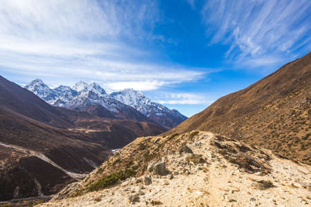 View on the way to Everest base camp. Sagarmatha national park, Nepal