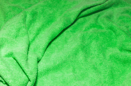 Texture of a green bath towel fabric background 版權商用圖片