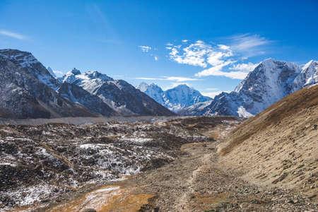 Khumbu glacier on the way to Everest base camp.