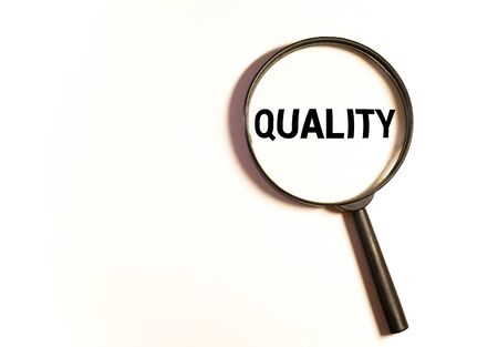 Focused on quality concept. Quality manager is focused on quality in business total quality management concept. Zdjęcie Seryjne