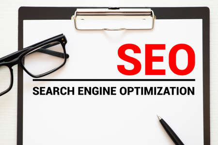 cloud of words or tags related to SEO search engine optimization Reklamní fotografie