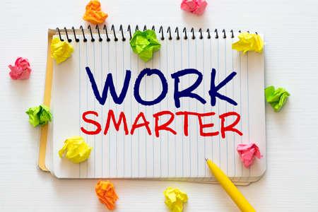 Work Smarter Not Harder Concept written on a chalkboard 免版税图像