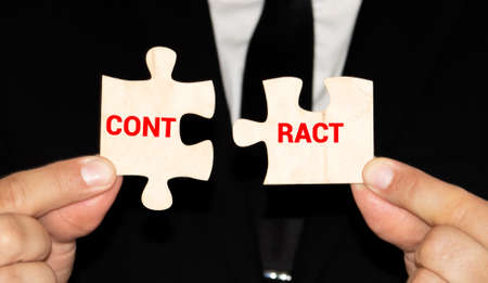 Businessman employer breaks a contract. Termination of cooperation, disagreement refusal to renew extend agreement. Deal cancel. Violation of conditions and rules. Anticipatory repudiation act