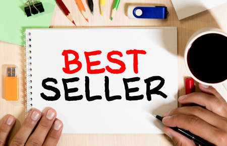 best seller text write on paper, concept