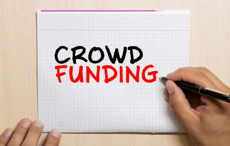 Crowd Funding Contribution Donate Concept, business concept Imagens