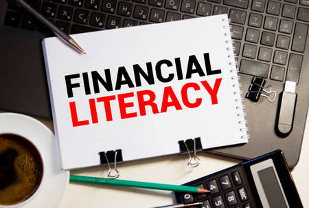 Word writing text Financial Literacy. Business concept for Understand and knowledgeable on how money works