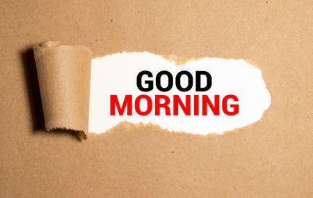 good morning wishes in a torn envelope.