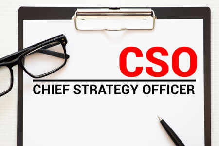CAO - Chief Accounting Officer acronym, business concept background.