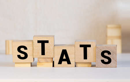 text of STATS on cubes, business concept