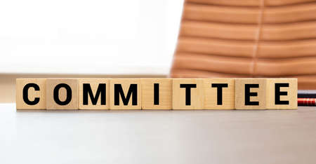 COMMITTEE word made with building blocks. concept