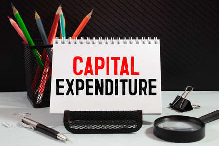 Capital Expenditure text, business conceptual