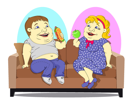 Fat people on the couch