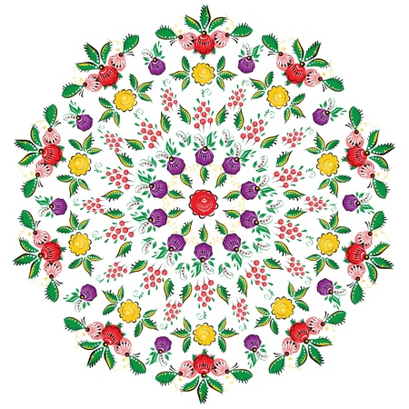 seamless flower folk pattern