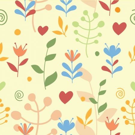 Flowers seamless pattern Stock Vector - 15844908