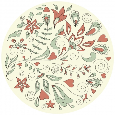 flowers folk seamless pattern