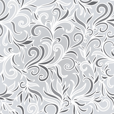 Vector abstract seamless background. Winter background. Frosty pattern.