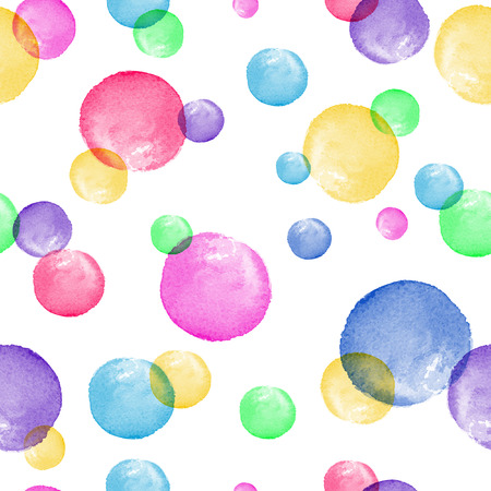 Seamless pattern. Watercolor vector abstract background. Watercolor round brushstrokes.