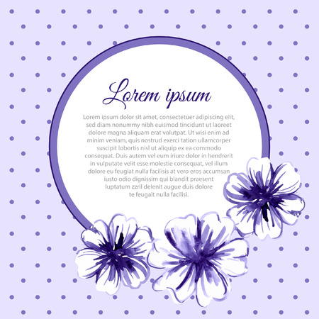 Watercolor floral background. Vector background. Frame. Vector