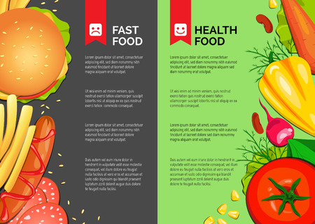 Fast food and Health Food banner