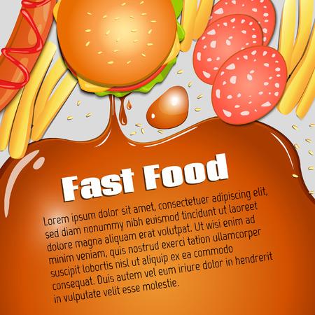 Vector background. Diet. Fast food. Vector backdrop. Health care. Illustration