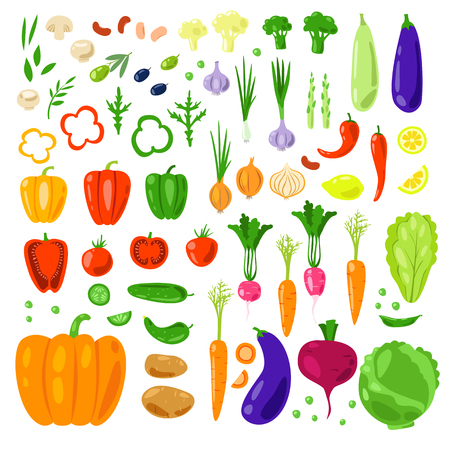 olive farm: Set vector vegetables and herbs. Healthy vegetarian food. Flat. Food, farm, fresh, vegan, natural, product, bio, diet, green market. Farmers market, farm food. Healthy food. Organic farm food. Illustration