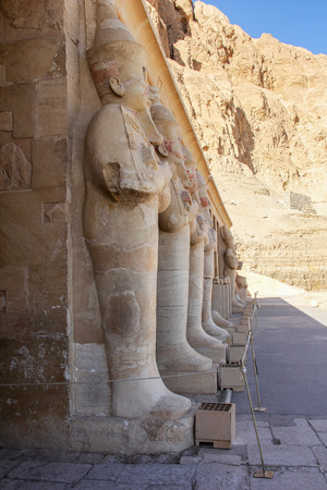 thebes: The temple of Hatshepsut near Luxor in Egypt