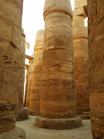 Luxor temple, Egypt. This was the largest temple complex of Amun-Re God in ancient Thebes town. Stock Photo