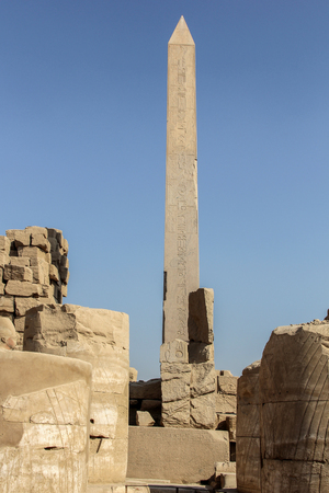 Luxor temple, Egypt. This was the largest temple complex of Amun-Re God in ancient Thebes town. Editorial