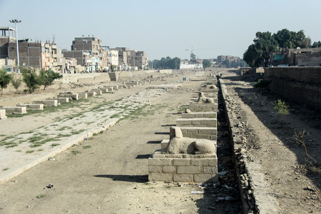 thebes: Luxor temple, Egypt. This was the largest temple complex of Amun-Re God in ancient Thebes town. Editorial