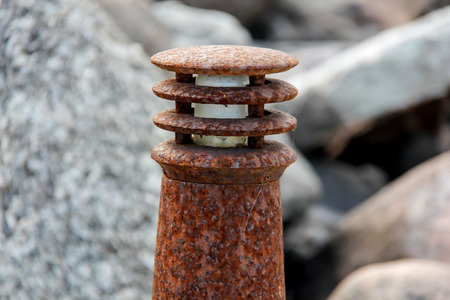monte sinai: Lámpara vieja oxidada de la litera
