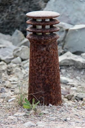 old rusted Berth lamp