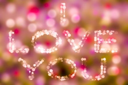 Amo il tema bacground del bokeh di concetto ti amo Tema del fondo e di amore di San Valentino. Archivio Fotografico