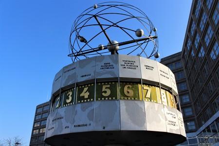 An image of a clock - world clock - berlin
