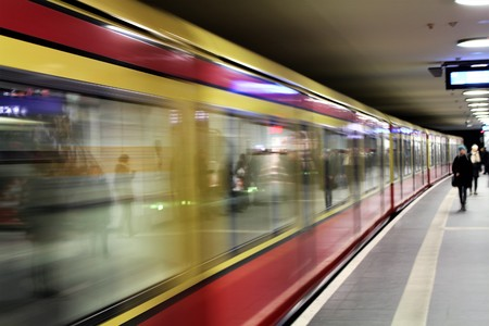 tardiness: An image of a blurry train