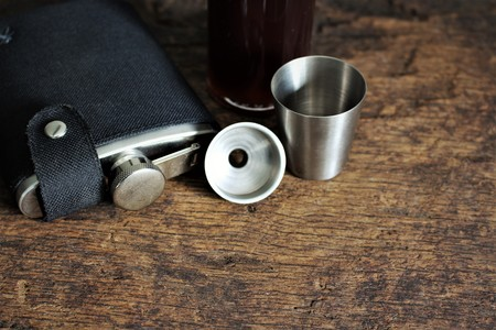 An image of a flask - blurry background Stock Photo