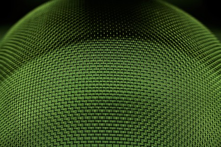 An image of a metal sieve - macro - focus in the center