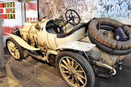 Mercedes Classic car from 1908, Grand Prix Racingcar - Einbeck  Germany - PS Memory Museum - 2017 March 26.