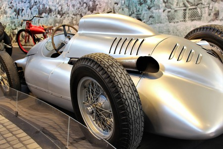 Autounion Silver arrow - PS Storage Museum - Einbeck  Germany - 2017 March 26.
