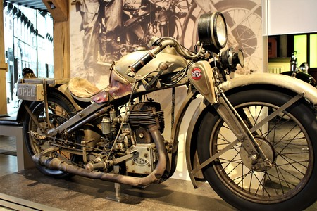 Opel Motorcycle - PS Memory Museum - Einbeck  Germany - 2017 March 26.