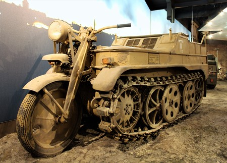 NSU HK 101 Half - chained vehicle - PS Speichermuseum - Einbeck  Germany - 2017 March 26