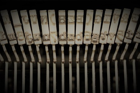 An image of a type from a typewriter Stock Photo