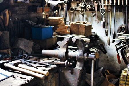 An image of a forging workshop