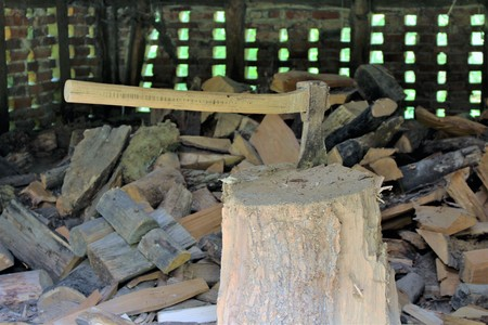 An Image of Wood chopping - ax