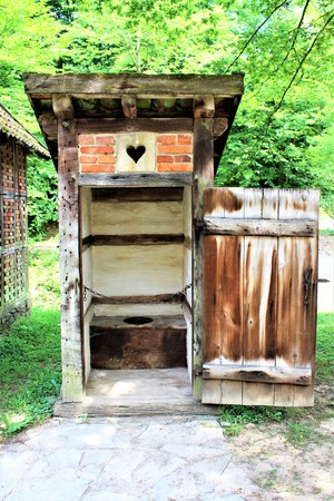 An image of a historical toilet