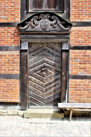 An image of a vintage front door