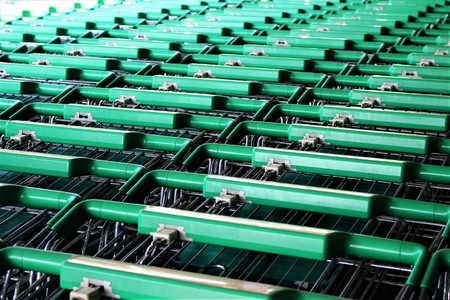 An Image of a Shopping cart - trolley