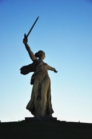 volgograd: Monument Mother Motherland in Volgograd Stock Photo